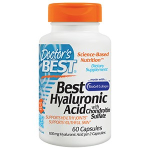 Doctor's Best, Гиалуроновая кислота с сульфатом хондроитина