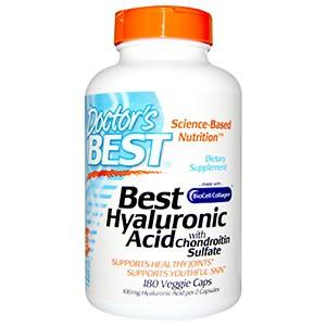 Doctor's Best, Best гиалуроновая кислота с хондроитин сульфатом