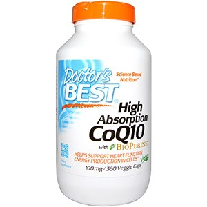 Doctor's Best, Hi Absorption CoQ10, 100mg, 360 капсул