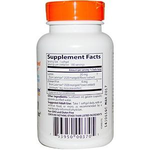 Doctor's Best, Лучший лютеин с добавкой Lutemax, 20 мг, 180 капсул