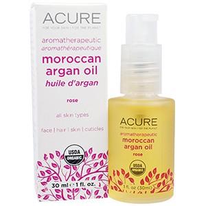 Acure Organics, Марокканское аргановое масло для ароматерапии, с шиповником, 30 мл