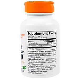 />Doctor's Best, Ко-энзим High Absorption CoQ10 высокой абсорбции с биоперином, 200 мг, 60 капсул