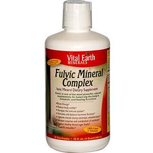 Vital Earth Minerals, Комплекс минералов Fulvic, пищевая добавка с ионами и минералами, 946 мл