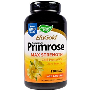Nature's Way, EFAGold, Примула вечерняя, максимальная концентрация, 1,300 мг, 120 мягких таблеток