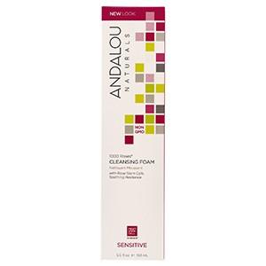 Andalou Naturals, Очищающая пенка для чувствительной кожи, 1000 роз, 163 мл