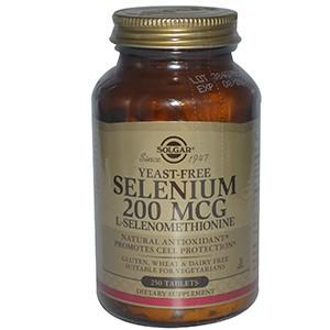 Solgar, Селен, 200 мкг, 250 таблеток