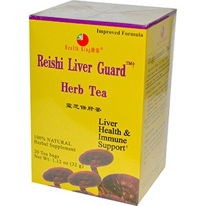 Health King, Травяной чай с рейши для защиты печени, без кофеина, 20 чайных пакетиков, 32 г.