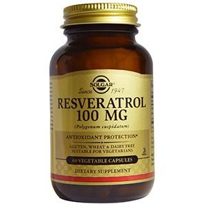 Solgar, Ресвератрол, 100 мг, 60 капсул