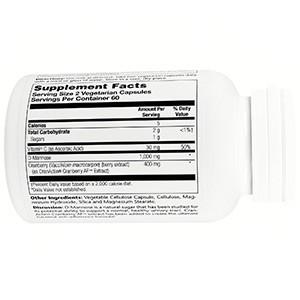 Solaray, D-манноза, с CranActin, 120 капсул