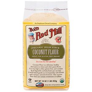 Bob's Red Mill, Органическая кокосовая мука с высоким содержанием клетчатки, не содержит глютена, 453 г