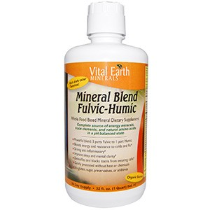 Vital Earth Minerals, Смесь фульвовых и гуминовых минералов 946 мл