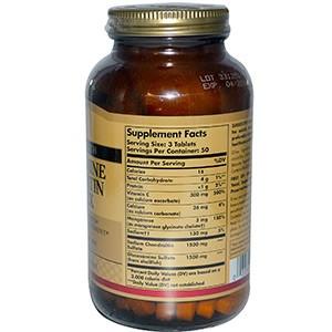 Solgar, Глюкозамин Хондроитин комплекс, дополнительные силы 150 таблеток