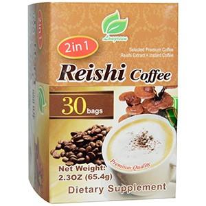 Longreen Corporation, 2 в 1 быстрорастворимый колумбийский кофе с экстрактом гриба рейши, 30 пакетиков по 65.4г каждый