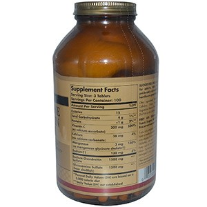 Solgar, Комплекс глюкозамина и хондроитина, более сильный, 300 таблеток