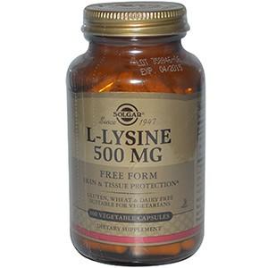 Solgar, L-лизин, 100 капсул