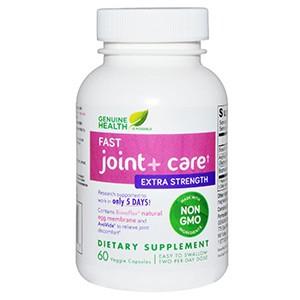 Genuine Health Corporation, Быстродействующая добавка для дополнительной прочности суставов, 60 капсул