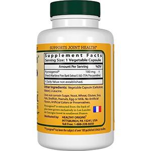 Healthy Origins, Пикногенол, 100 мг, 60 капсул в растительной оболочке