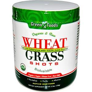 Green Foods Corporation, Сырой натуральный сок из ростков пшеницы, 150 г