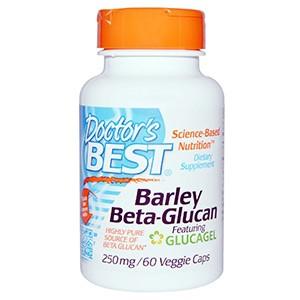 Doctor's Best, Бета-глюкан из ячменя, 250 мг, 60 капсул