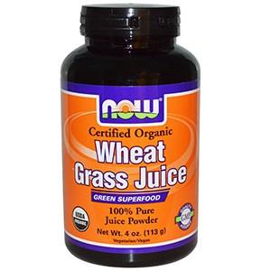 Now Foods, Organic, сок ростков пшеницы, 100 % чистый сок в порошке, 113 г