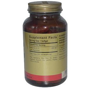 Solgar, Коэнзим Q-10, 400 мг, 60 гелевых капсул