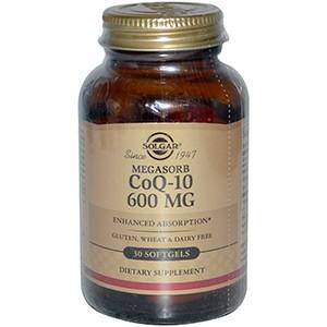 Solgar, CoQ10, 600 мг, Коэнзим 30 гелевых капсул