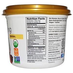 Nutiva, Organic Shortening, оригинальная смесь красного пальмового и кокосового масел, 425 г