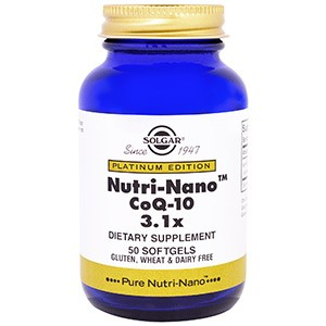 Solgar, Платиновая серия, Nutri-Nano CoQ-10 3.1x, 50 мягких капсул