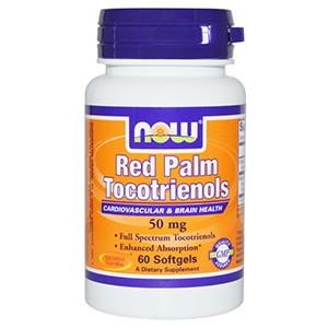 Now Foods, Токотриенолы из красной пальмы, 50 мг, 60 капсул