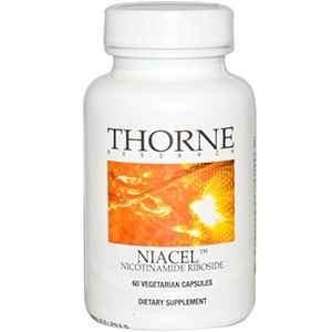 Thorne Research, Niacel, никотинамид рибозид, 60 растительных капсул