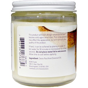 Now Foods, Кокосовое масло, натуральное, 207 мл