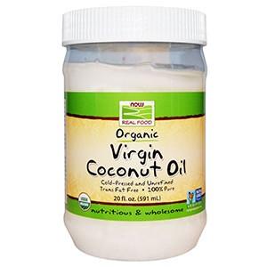 Now Foods, Органическое натуральное кокосовое масло, 591 мл