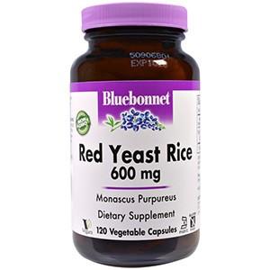 Bluebonnet Nutrition, Красный дрожжевой рис, 600 мг, 120 капсул