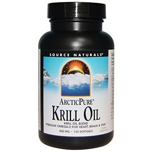 Source Naturals, Arctic Pure, масло криля, 500 мг, 120 желатиновых капсул
