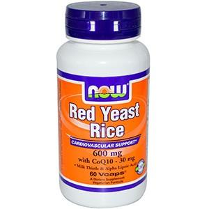 Now Foods, Красный дрожжевой рис, 600 мг, 120 капсул
