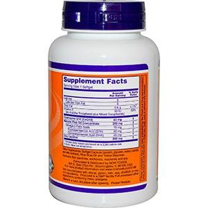 Now Foods, CoQ10 + Рыбий жир, 60 мг, 120 гелевых капсул