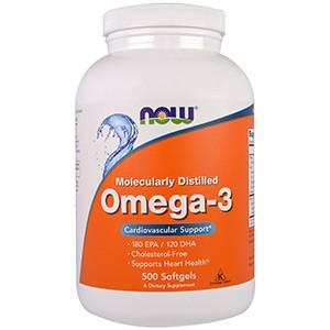 Now Foods, Омега-3, полученный методом молекулярной дистилляции, без холестерина