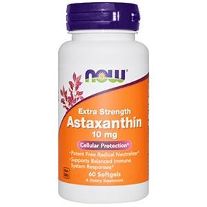 Now Foods, Усиленный астаксантин, 10 мг, 60 желатиновых капсул