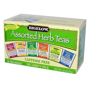 Bigelow, Ассорти травяных чаёв, шесть видов, без кофеина