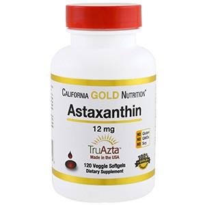 California Gold Nutrition, Натуральный астаксантин, тройная сила, получени и изготовлен в США , без ГМО, 12 мг, 120 капсул