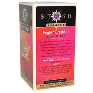 Stash Tea, Черный чай высшего сорта, English Breakfast, 20 чайных пакетиков, 40 г