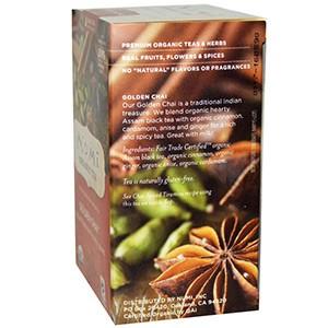 Numi Tea, Органический черный чай, со средним содержанием кофеина, Золотой чай