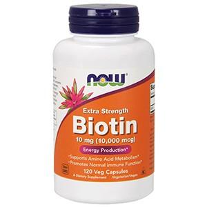 Now Foods, Биотин, Дополнительная сила, 10 мг (10 000 мкг)