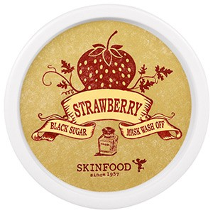 Skin Food, Черный сахар, клубничная смываемая маска