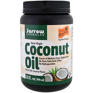 Jarrow Formulas, Органическое кокосовое масло первого холодного отжима, Отжато шнековым прессом