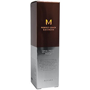 Missha, M Perfect Cover BB Cream, №21, светло-бежевый