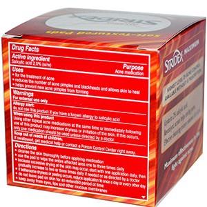 Stridex, Одношаговое средство от угрей, максимальная сила, без спирта