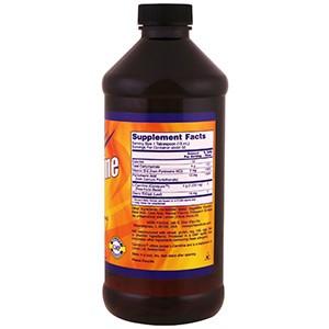 Now Foods, L-карнитин в жидкой форме, с цитрусовым ароматом, 1000 мг