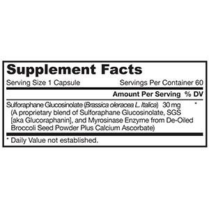 Jarrow Formulas, BroccoMax, усиленный микросиназой