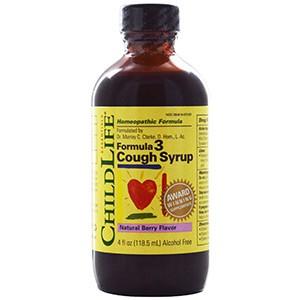ChildLife, Formula 3 Сироп от кашля, без алкоголя, натуральный ягодный вкус
